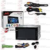 """JVC 6.2"""" Car Double DIN 2DIN Touchscreen AM/FM DVD MP3 WMA CD Player USB Bluetooth with 170° Night Vision License Rear view Camera"""