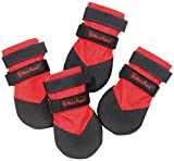 Ultra Paws DURABLE Dog Boots Water Resistant Booties for Snow Ice Mud Wood Floor (Small, RED (Set of 4 Durable Boots))