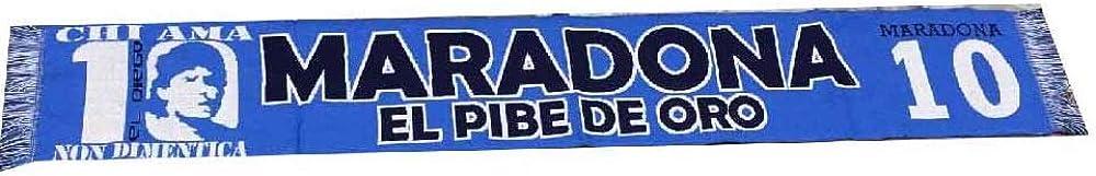 Sciarpa maradona 10 el pibe de oro jaquard tifosi napoli argentina calcio ps 17371 brollo group B08P7R5RJB