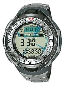 Casio SPF-40T-7VER - Reloj multifunción de cuarzo para mujer con correa de titanio, color gris