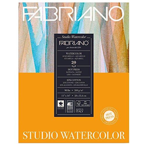 Fabriano Studio Watercolor Pad 8X10 HP 200G (Studio 8 Paper)