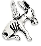 925 Sterling Silver Donkey Pendant Charm Necklace