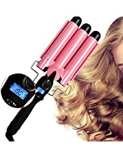 Ausale Hair Curler 3 Barrel Curling Iron Curler Crimpers Curling Tongs Ceramic Hair Wavers Curling Wands Curler Styling Tools Easy to use Fast Heating Hot Tools Hairstyle for Deep Waves Salon Home Travel Girlsfriend / Mother's / Christmas Day Gifts (AU Plug)
