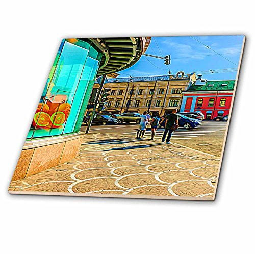 (3dRose Alexis Photo-Art - Moscow City 2 - Moscow city art. Waiting for the green traffic light - 6 Inch Glass Tile (ct_273021_6))