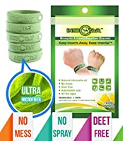 Mosquito Repellent Bracelet INSECTAR,5 Pack Best Pest,Insect&Bug Control Repeller off-Good Life,Travel,Yard,Outdoor&Indoor-For-Kids,babies,Adults-Natural Plants,Deet-Free,No-Spray-Trap-Wipes-Candle-Killer-Zika-Clip on-Patch-Wristband 100% Money Ba