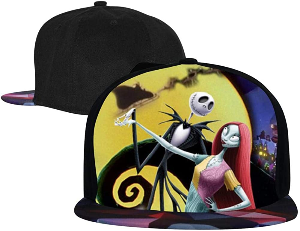 BEKAI Unisex Christmas Night-Mar-e Dancing Adjustable Brimbill Flats Hat for Mens//Womens Hip Hop Caps