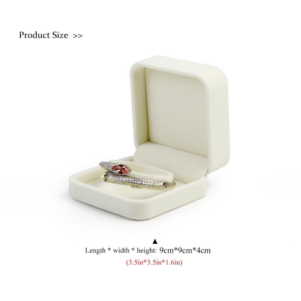 Oirlv Velours Blanc Coffret Bijoux Bracelet jonc Cas porteur Vitrine Afficher