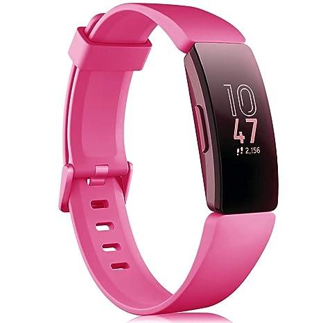 Onedream Compatible pour Fitbit Inspire & Inspire HR Bracelet Femme Homme, Classique Bracelet Bande de