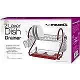 Prima Prima 2-Tier Dish Drainer, Red