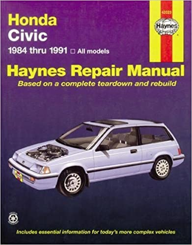 Honda Civic 1984 Thru 1991: All Models (Haynes Manuals) 1st Edition
