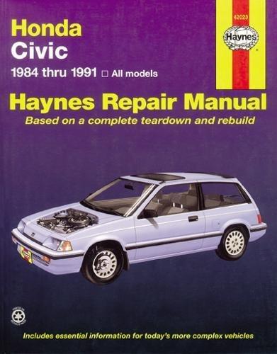 1984 Manual - Honda Civic 1984 Thru 1991: All Models (Haynes Manuals)