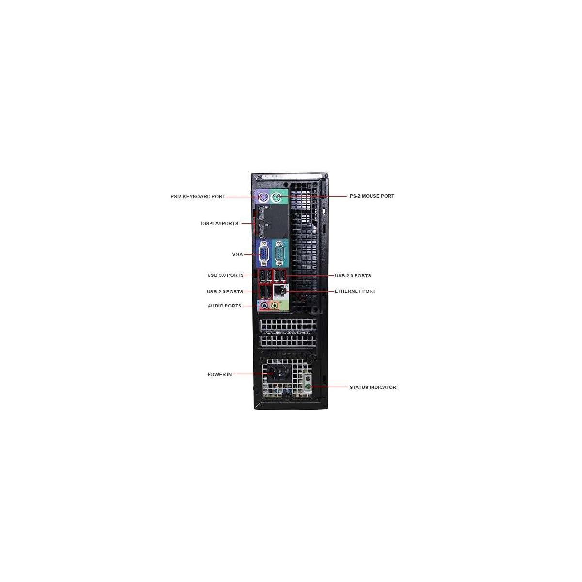 Dell Optiplex 9020 SFF Computer Desktop PC, Intel Core i5 Processor, 16 GB  Ram, 2 TB Hard Drive, WiFi, Bluetooth 4 0, DVD-RW, Dual 19 inch LCD