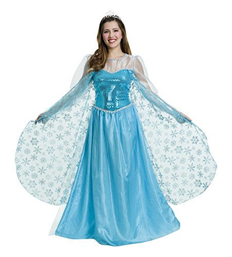 Charades Women's Ice Queen Costume, Blue, X-Small