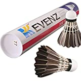 12-Pack Kevenz Goose Feather Badminton Shuttlecocks with Great Stability and Durability,Hight Speed Badminton Birdies Balls