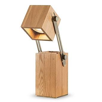 Lámpara de mesa de madera ajustable creativa Soporte de la pluma ...