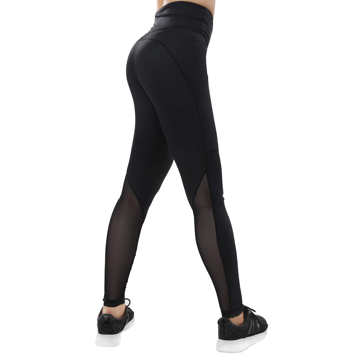 b14c8c5254e2 Amazon.com: Vaburs Women High Waist Athletic Leggings with Inside Small  Pocket and Outside Phone Pocket for Gym Workout,Yoga,Running: Clothing
