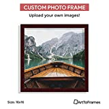Custom Framing on Amazon Custom Printed High Definition Quality Photo 16 x 16 , Framed in Cherry