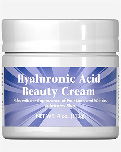Puritan's Pride Hyaluronic Acid Beauty Cream-4 oz - Science Hyaluronic Food Acid