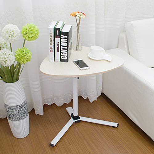 (XIAOYAN End Table Corner Table, Lift Lazy Desk, Triangular Laptop Desk, Removable Multifunction (Color : White Maple))