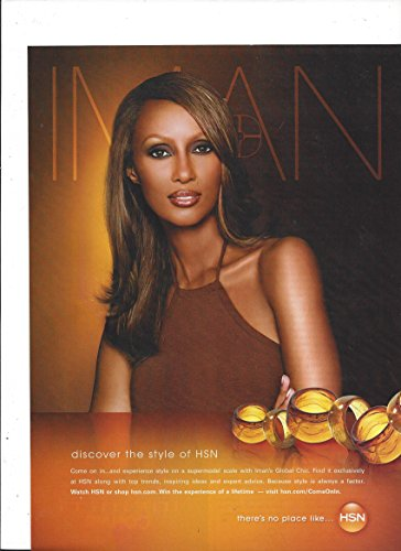 **PRINT AD** With Iman For 2008 HSN Jewelry Hsn Jewelry