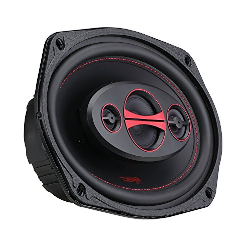 DS18 GEN-X6.9 Coaxial Speaker - 6x9, 4-Way, 180W Max, 60W RMS, Black Paper Cone, Two Mylar Dome Tweeters, 4 Ohms - Clarity Unparalled by Other Speakers in Their Class (2 Speakers)