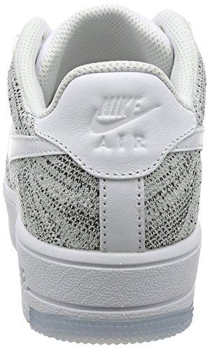 0c418aaba02a57 ... NIKE AIR FORCE 1 FLYKNIT LOW Damen Nike Mod. 820256 Weiß Schwarz Weiß  ...