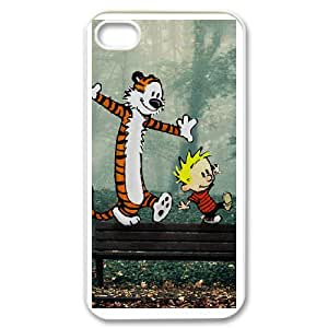 DIY iPhone 4,4S phone case With Calvin And Hobbes Pattern , Perfectly Fit Your Smartphone