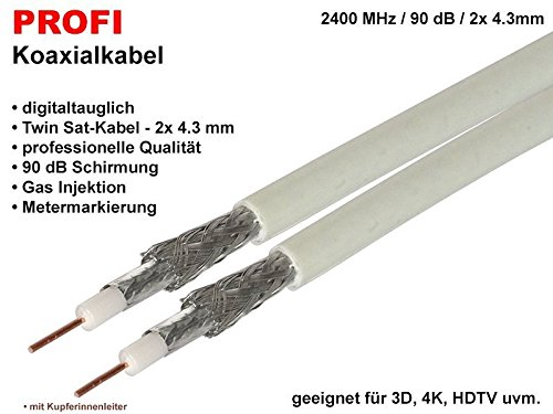 bauck HAGE profesional K04 Cable Coaxial, 4.3 mm, 90 Db, Twin Cable,