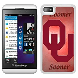 NCAA Big 12 Conference Big12 Football Oklahoma Sooners 10 White New Design Phone Case For Blackberry Z10 Case