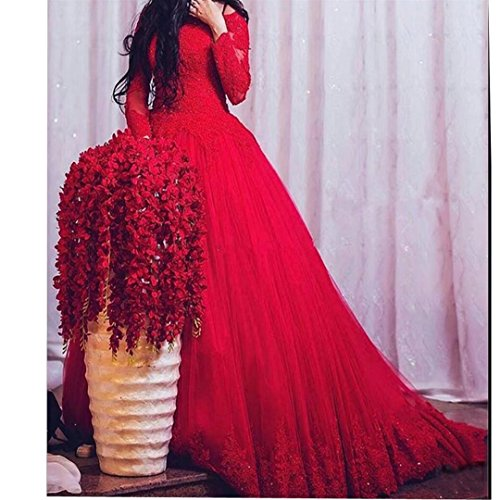 Lace Dimei Train Quiceanera Royal Women's Ball Gown Long Sleeves Long Dresses Tulle Off Shoulder Prom Dresses t4qtHrw