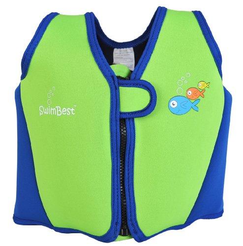 Swimbest - Baby/Kinder - Schwimmjacke / Schwimmweste aus Neopren, Grün/Marineblau, 18 Monate - 3 Jahre (Bis zu etwa 20 kg)