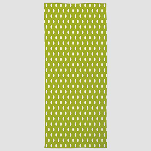 Cotton Microfiber Hand Towel [ Retro,Vintage Old Fashioned 60s 70s Inspired Polka Dots Pop Art Style Art Print,Lime Green and White ] for Hotel SPA Beach Pool Bath