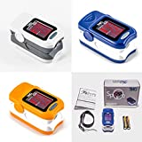 FDA Approved Fingertip Pulse Oximeter. Portable Finger Tip Pulse Oximetry (Pulse Ox) used to Spot Check SpO2 & Monitor Blood Oxygen Saturation. Batteries, LED Display and Lanyard Included! (Orange)