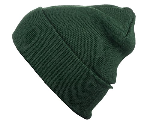 Cap911 Unisex Plain 12 inch long Beanie - Many Colors (One Size, Hunter - Glasses Joseph Tyler