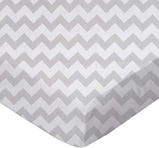 product image for SheetWorld Fitted Cradle Sheet - Grey Chevron Zigzag - Made In USA