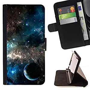 - Galaxies Universe Sky Stars Planet Nebula - - Caso de la cubierta de la piel cierre magn????tico Cartera de cuero del tir????n FOR Apple Iphone 4 / 4S Gaga Case