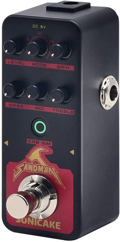 SONICAKE Sandman Preamplificador digital Distorsión de metal Pedal de efectos de guitarra de modelado de amplificador moderno HiGain