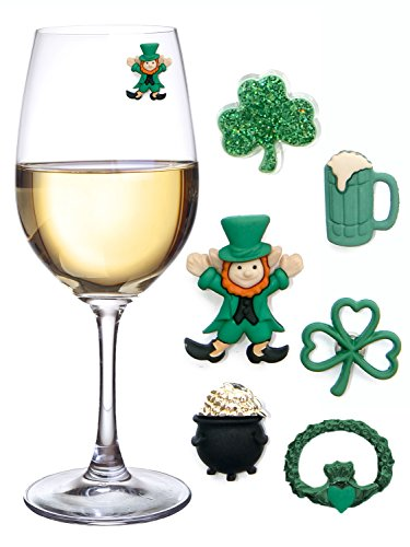 St. Patrick's Day Magnetic Wine Glass Markers (Set of 6)