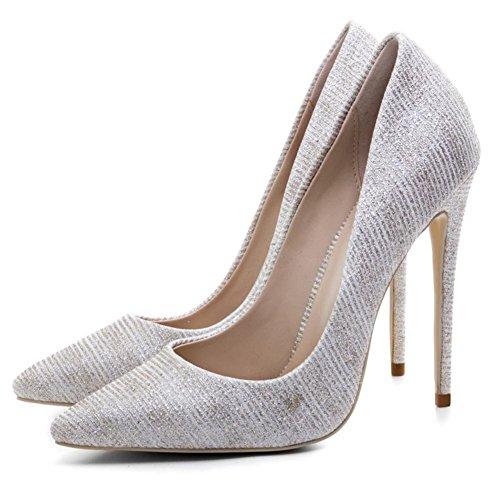 Zapatos Mujeres Puntiagudo eur35uk3 Tamaño Corte 7 Azul Estilete Nvxie Alto Eur 40 Trabajo uk Fiesta Tacón Gold Oro Inteligente Zapatillas qAwBnCxP