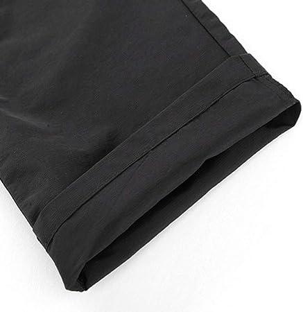 NOBRAND - Pantalones cargo para hombre, talla grande, para primavera/verano, color negro
