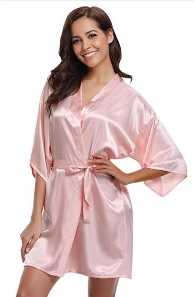 Amazon Com Ztianr Women S Bathrobe Silk Kimono Robe Bathrobe Women Silk Bridesmaid Robes Sexy Robes Satin Robe Ladies Dressing Gowns Pink L Garden Outdoor