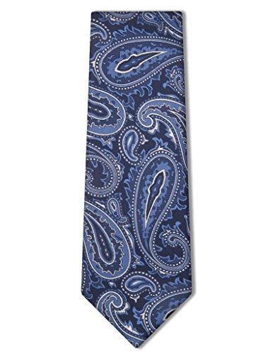Origin Ties Men's Fashion Paisley Carom Silk Tie Blue (Baby Blue Necktie)