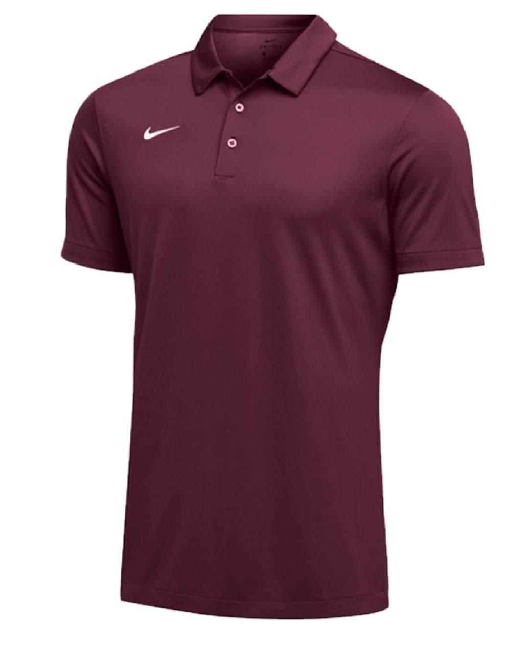 Nike Mens Dri-FIT Short Sleeve Polo Shirt (Small, Maroon)