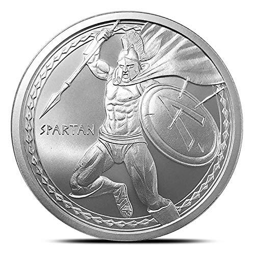 Spartan Warrior 1 Troy oz .999 Fine Silver Round Uncerculated by Warrior Series