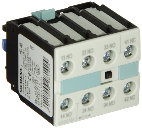 Auxiliary Contact Block (Siemens 3RH19 21-1FA31 Auxiliary Switching Block For Contactor, Screw Connection, 4 Pole, 31 Identification Number, 3 NO + 1 NC Contacts)