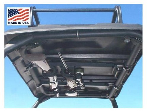 Great Day Titan Scout and Vanish E-UTV Quick-Draw Overhead Gun Rack. 35.0'' X 42.0''. Made in USA. Holds Two Guns. Day-QD8530GR by Great Day (Image #1)