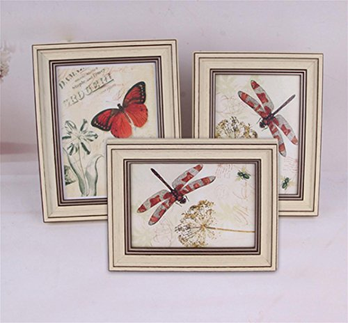 GuiXinWeiHeng £¨3pcs£Vintage photo frame business license photo frame cross stitch box decorative picture frame hanging wall by GuiXinWeiHeng
