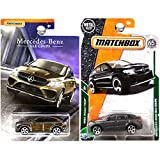 Matchbox Mercedes Benz GLE Coupe in Charcoal Gray Silver and Bronze Brown Copper Set of 2