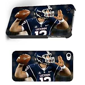 NCAA Connecticut Huskies Football Teams for Sports Star Iphone 4/4s Case - University of Connecticut Guys NO.12 QB Casey Cochran