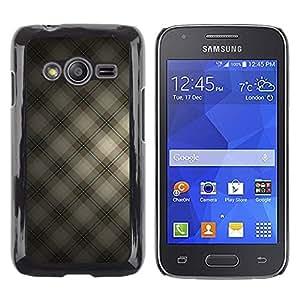 TECHCASE**Cubierta de la caja de protección la piel dura para el ** Samsung Galaxy Ace 4 G313 SM-G313F ** Squares Fabric Design Textile Wallpaper